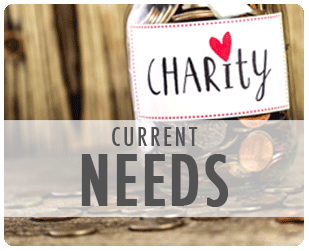 Download our Current Needs list